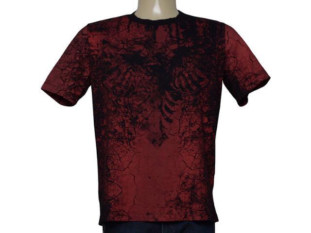 Camiseta Masculina Cavalera Clothing 01.20.0031 Preto/vermelho