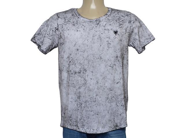 Camiseta Masculina Cavalera Clothing 01.01.9941 Branco Mesclado Preto