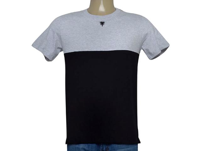 Camiseta Masculina Cavalera Clothing 01.20.0153 Mescla/preto