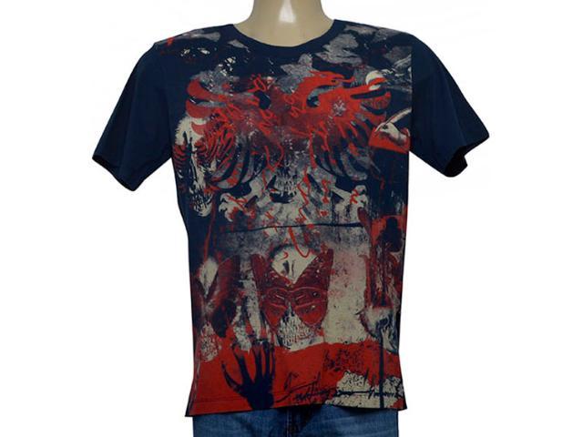 Camiseta Masculina Cavalera Clothing 01.01.9965 Azul Petróleo