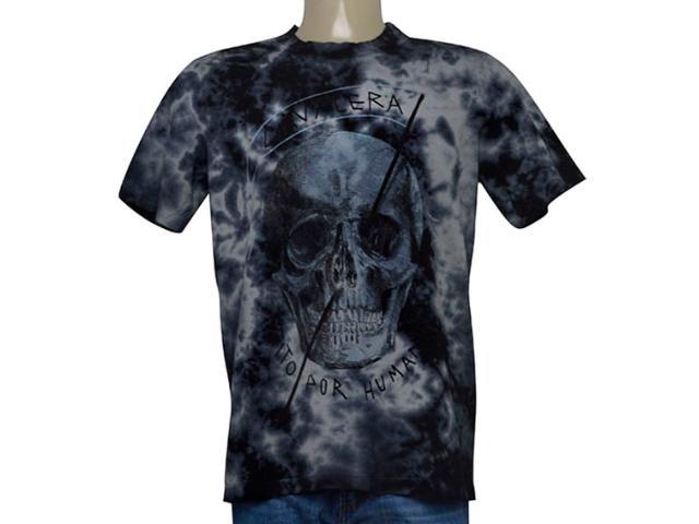 Camiseta Masculina Cavalera Clothing 01.01.9611 Marinho Estonado