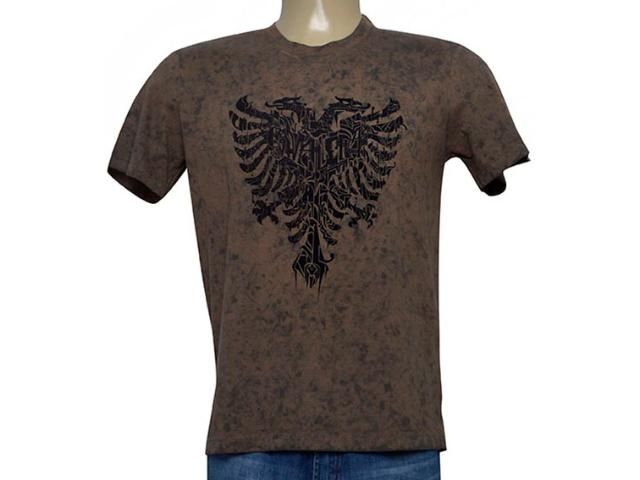 Camiseta Masculina Cavalera Clothing 01.20.0261 Marrom Estonado