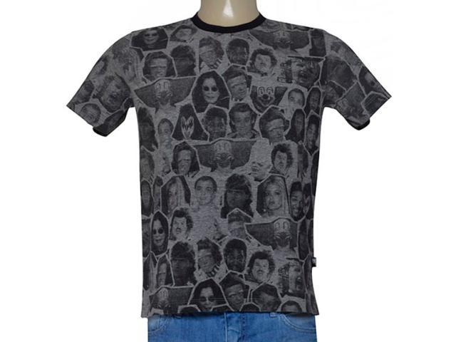 Camiseta Masculina Cavalera Clothing 01.01.9220 Mescla