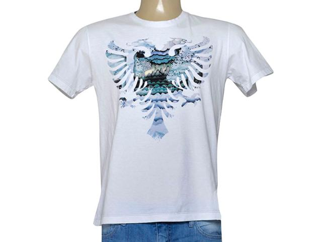 Camiseta Masculina Cavalera Clothing 01.01.9225 Branco Estampado