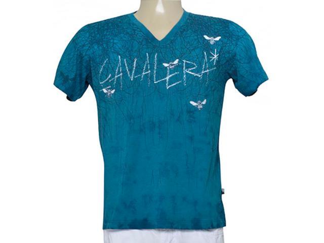 Camiseta Masculina Cavalera Clothing 01.01.9274 Azul Petróleo