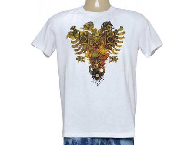 Camiseta Masculina Cavalera Clothing 01.01.9117 Branco Estampado
