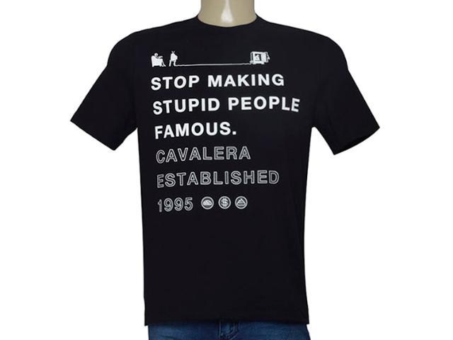 Camiseta Masculina Cavalera Clothing 01.01.9375 Preto