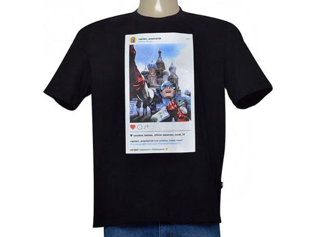 Camiseta Masculina Cavalera Clothing 01.01.9562 Preto