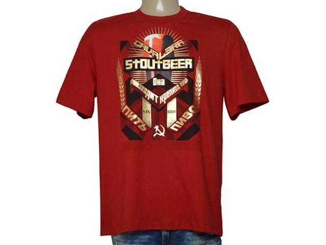Camiseta Masculina Cavalera Clothing 01.01.9584 Vermelho