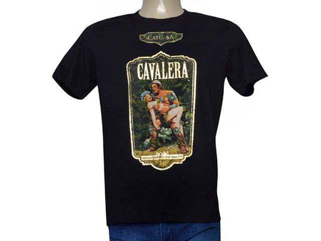 Masculina Camiseta Cavalera Clothing 01.01.9731 Preto