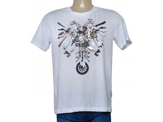Masculina Camiseta Cavalera Clothing 01.01.9718 Branco