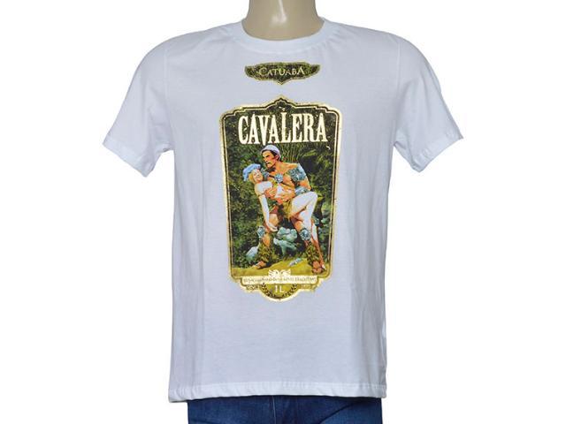 Masculina Camiseta Cavalera Clothing 01.01.9731 Branco