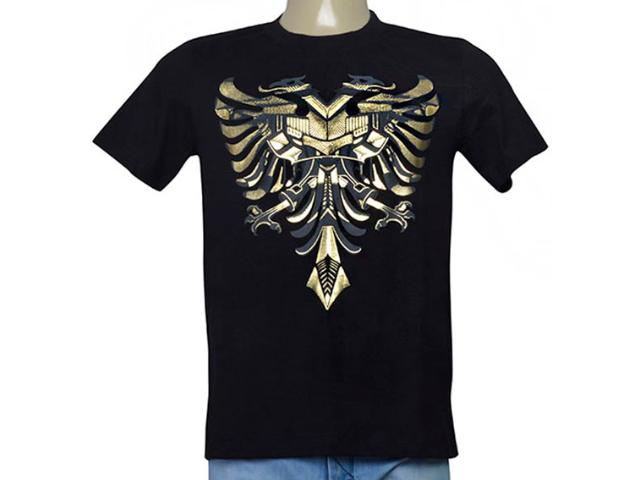 Masculina Camiseta Cavalera Clothing 01.01.9733 Preto