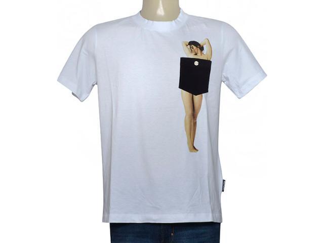 Masculina Camiseta Cavalera Clothing 01.01.9778 Branco