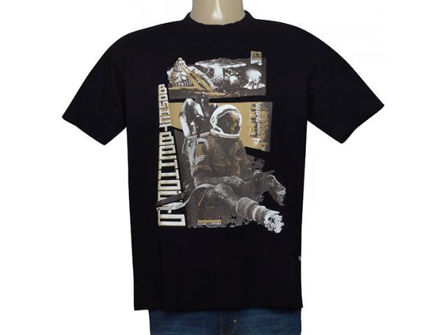 Masculina Camiseta Cavalera Clothing 01.01.9572 Preto