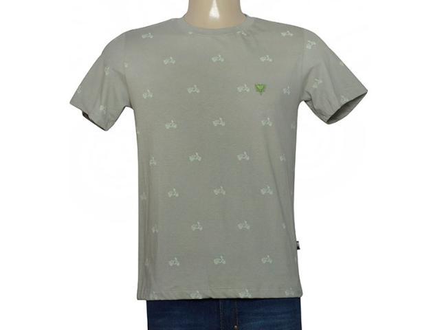 Masculina Camiseta Cavalera Clothing 01.01.9782 Verde Militar