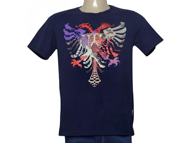 Camiseta Masculina Cavalera Clothing 01.01.9979 Azul Petróleo