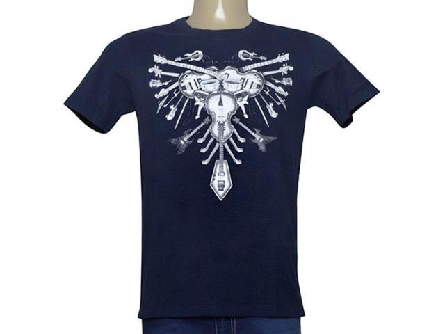 Camiseta Masculina Cavalera Clothing 01.01.9982 Azul Petróleo
