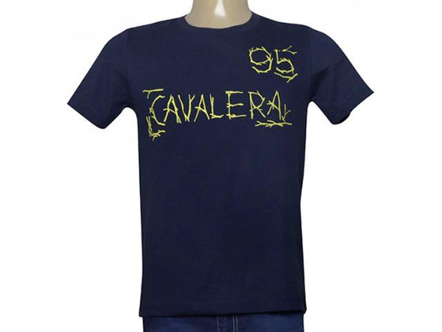 Camiseta Masculina Cavalera Clothing 01.20.0016 Azul Petróleo