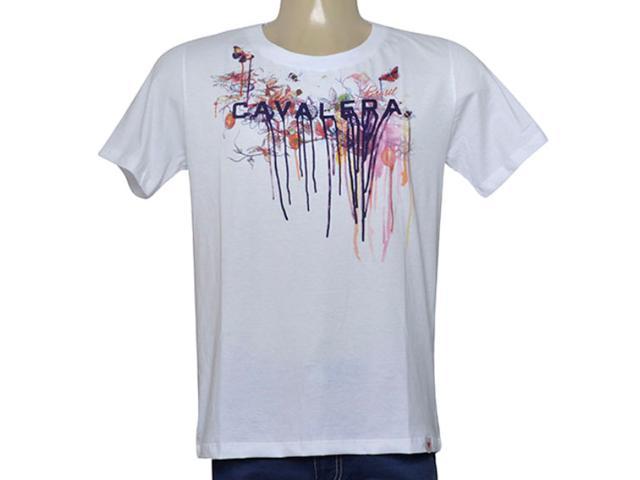 Camiseta Masculina Cavalera Clothing 01.01.9972 Branco