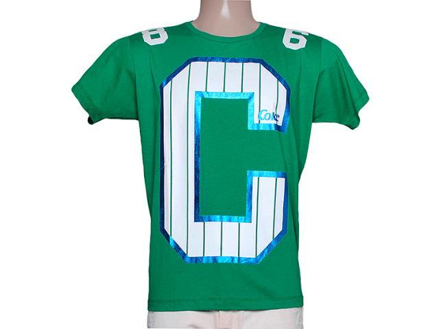 Camiseta Masculina Coca-cola Clothing 353204126 Verde Folha