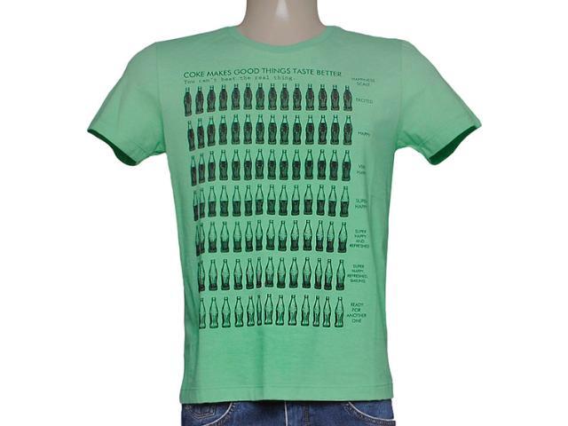 Camiseta Masculina Coca-cola Clothing 353204111 Verde