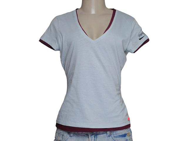 Camiseta Feminina Coca-cola Clothing 343200458 Azul/vinho