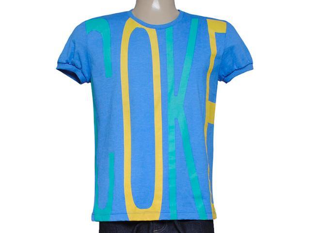 Camiseta Masculina Coca-cola Clothing 353203867 Azul Bic