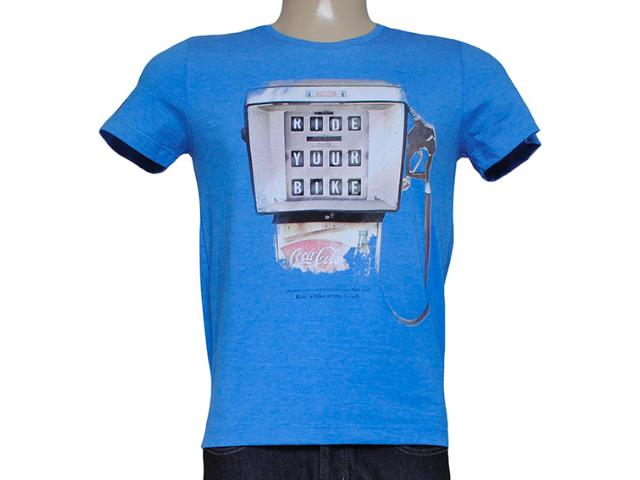 Camiseta Masculina Coca-cola Clothing 353203781 Azul Bic