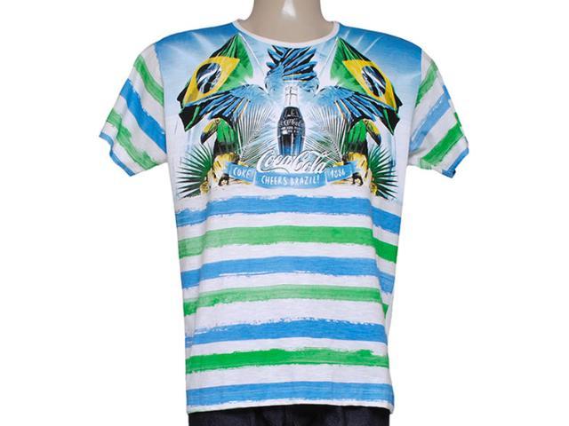 Camiseta Masculina Coca-cola Clothing 353203869 Estampado Branco