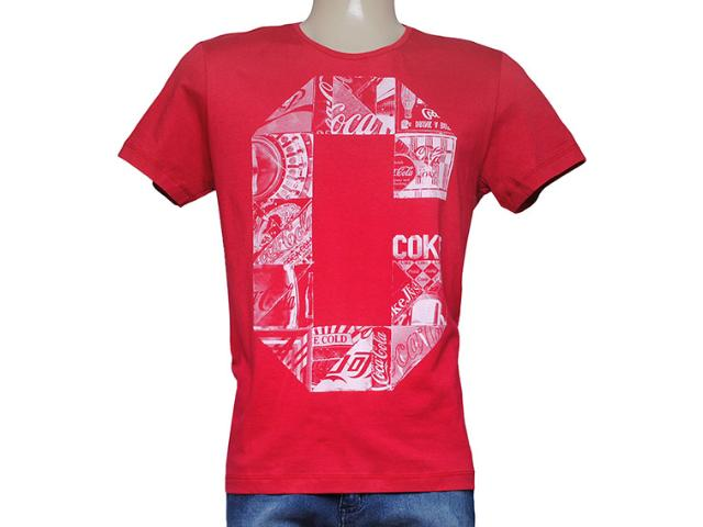 Camiseta Masculina Coca-cola Clothing 353204299 Vermelho