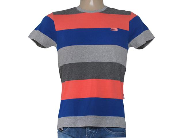 Camiseta Masculina Coca-cola Clothing 353204289 Mescla/azul/salmão