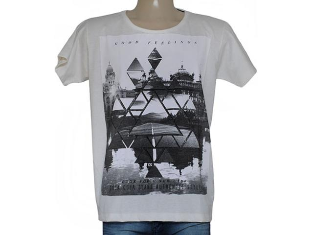 Camiseta Masculina Coca-cola Clothing 353204779 Off White