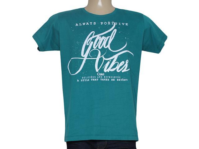 Camiseta Masculina Coca-cola Clothing 353204770 Verde