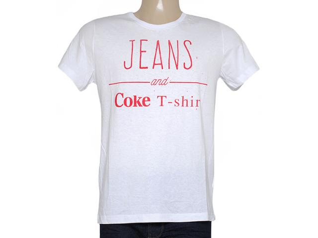 Camiseta Masculina Coca-cola Clothing 353204771 Branco