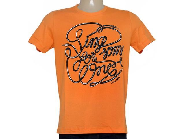 Camiseta Masculina Coca-cola Clothing 355200056 Laranja