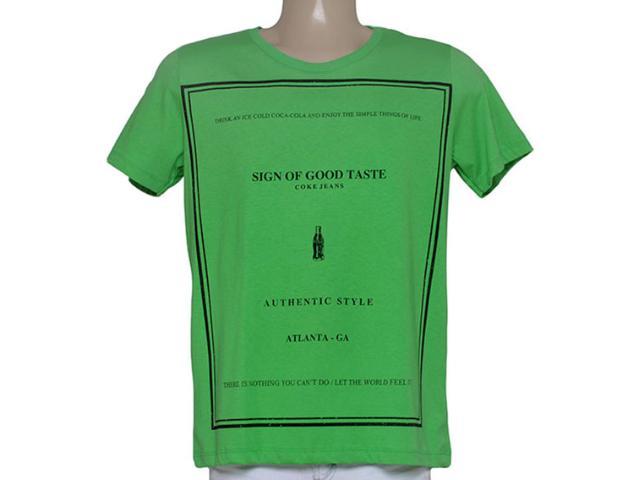 Camiseta Masculina Coca-cola Clothing 353204817 Verde