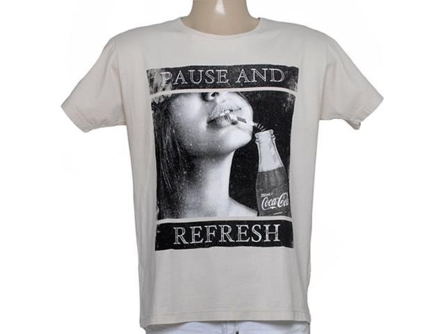 Camiseta Masculina Coca-cola Clothing 353204626 Bege