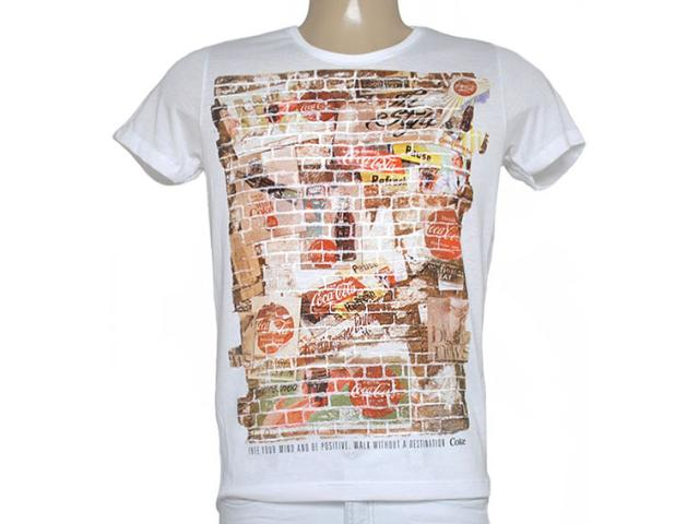 Camiseta Masculina Coca-cola Clothing 353204627 Off White