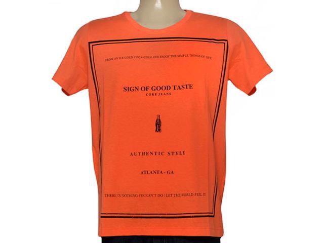 Camiseta Masculina Coca-cola Clothing 353204817 Laranja