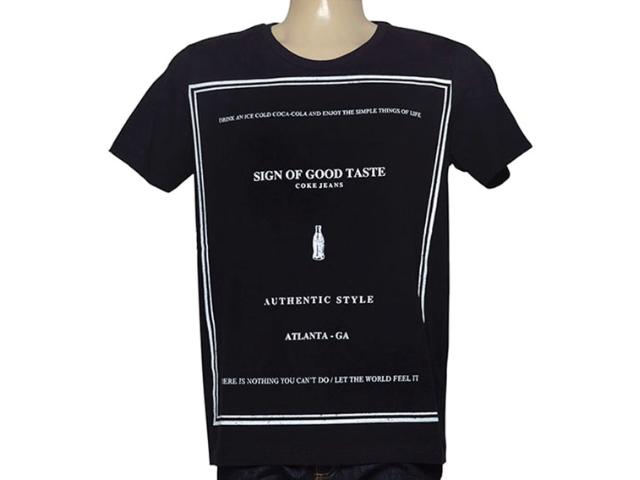 Camiseta Masculina Coca-cola Clothing 353204817 Preto