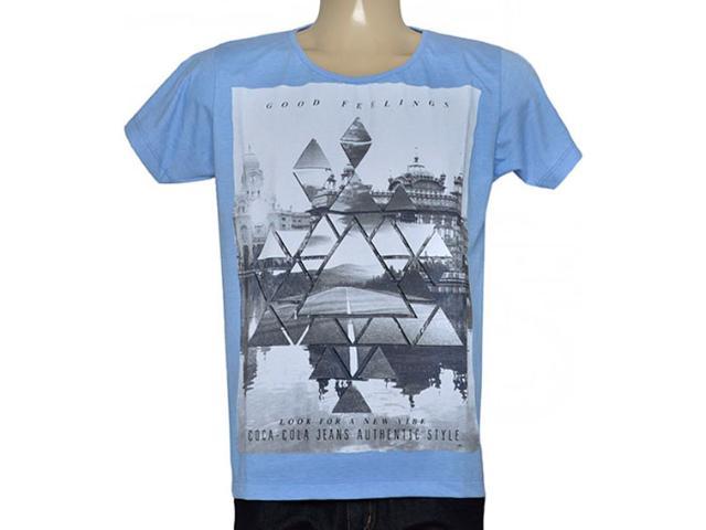 Camiseta Masculina Coca-cola Clothing 353204779 Azul