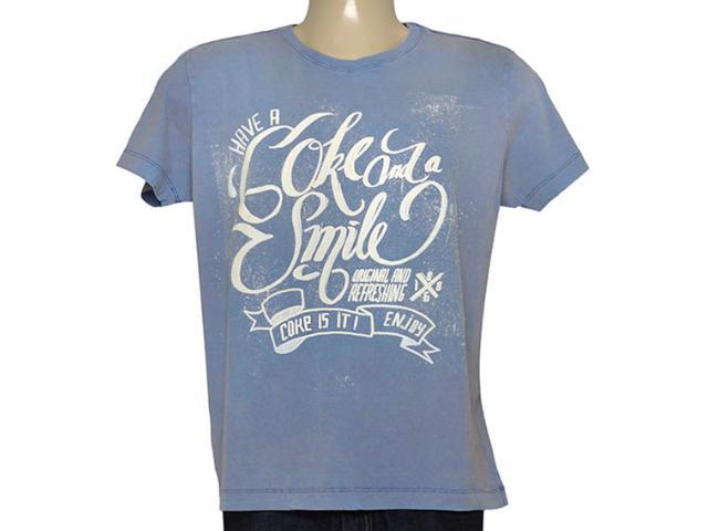 Camiseta Masculina Coca-cola Clothing 353204657 Azul Acinzentado