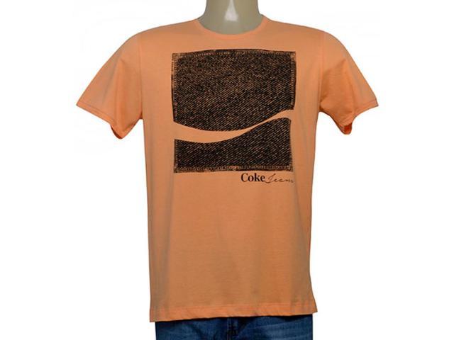 Camiseta Masculina Coca-cola Clothing 353205758 Laranja