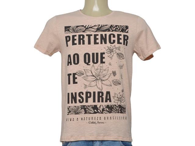 Camiseta Masculina Coca-cola Clothing 353206107  Bege/preto