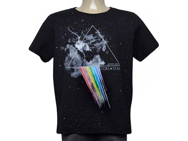 Camiseta Masculina Coca-cola Clothing 345200129 050 Preto Estampado