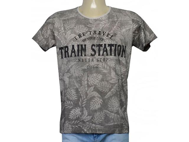 Camiseta Masculina Coca-cola Clothing 353205559 Cinza