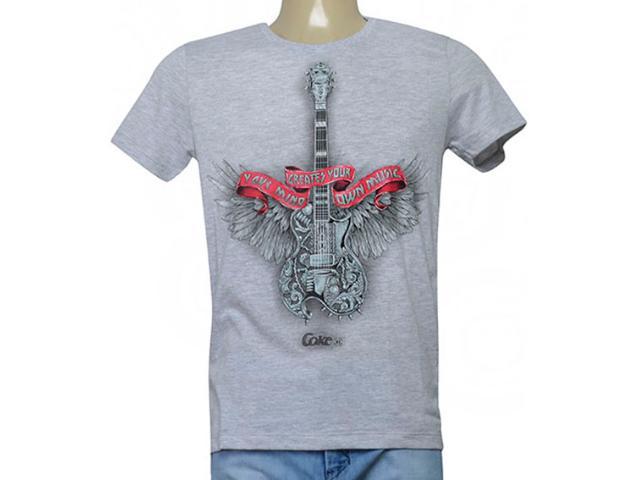 Camiseta Masculina Coca-cola Clothing 355200213 Var11 Mescla