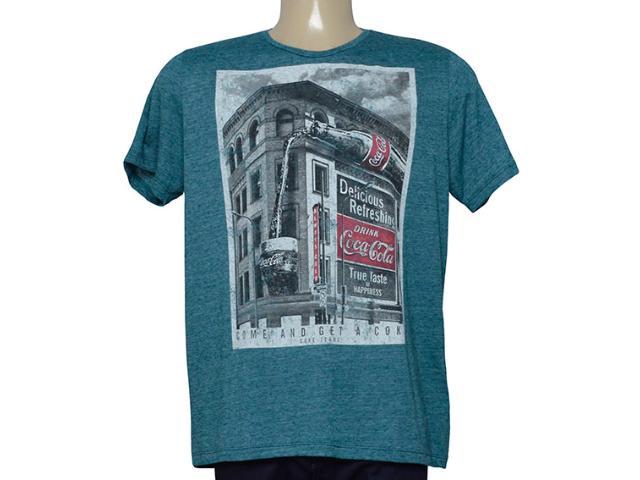 Camiseta Masculina Coca-cola Clothing 353205471 Verde