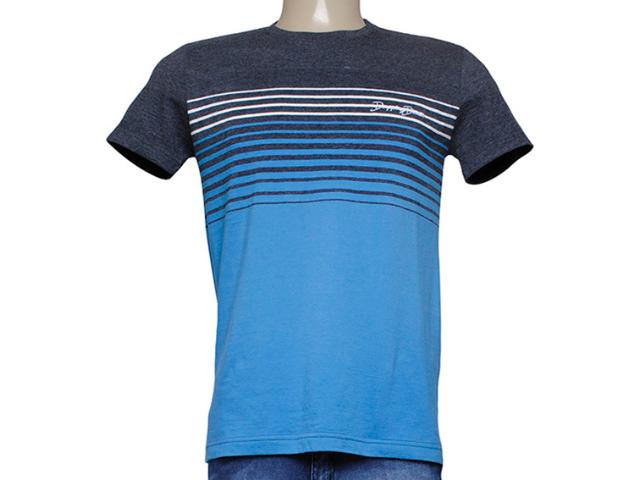 Camiseta Masculina Dopping 015253566 Grafite/azul